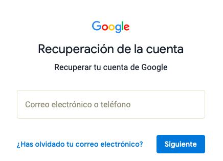 recuperar cuenta google