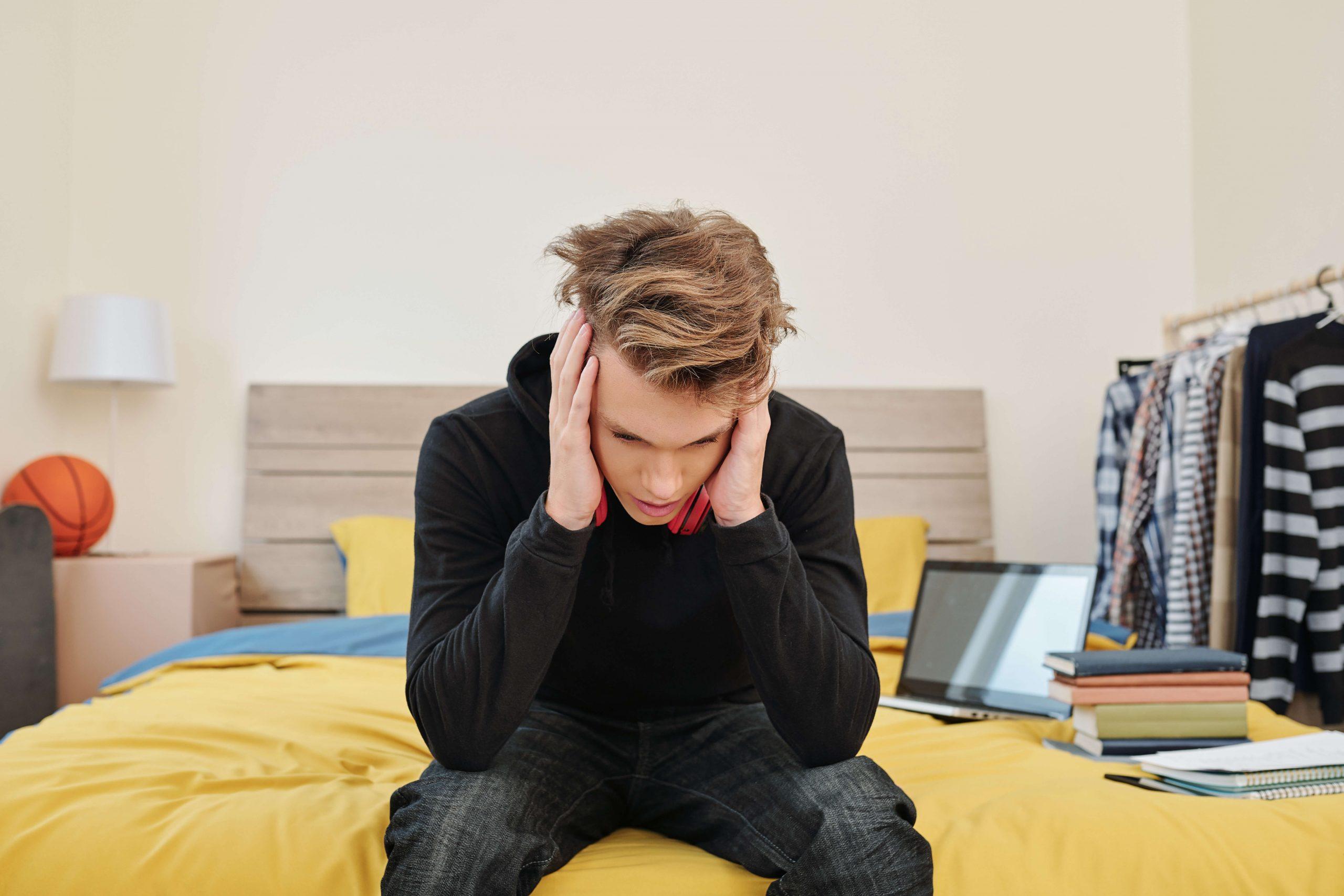 estudiante estresado