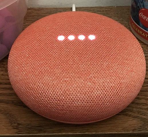 google home mini rojo